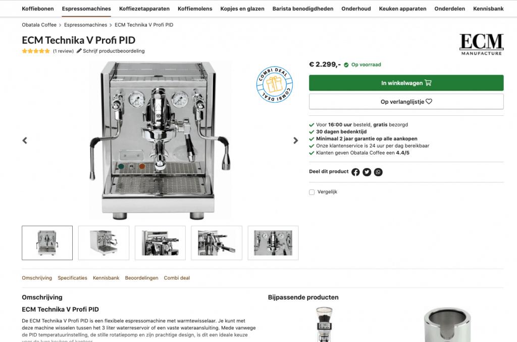 optimale conversie met een goed product detail pagina op je webshop